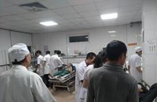 Sập giàn giáo tại công trình bến xe ở Vinh, 10 người nhập viện