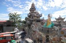 Tượng Phật bằng Hoa bất tử ở chùa Linh Phước xác lập kỷ lục thế giới