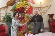 Trưởng Ban Dân vận TW thăm, chúc mừng Tòa Giám mục Xuân Lộc