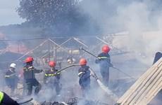 Lâm Đồng: Cháy 4 căn nhà ở Lạc Dương, nhiều vật dụng bị thiêu rụi