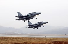 Hàn Quốc chuyển giao máy bay huấn luyện T-50TH cho Thái Lan