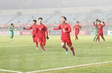 Đoàn Đại sứ quán Việt Nam tại Bắc Kinh tới thăm đội U23 Việt Nam