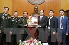 Đoàn Bộ Tư lệnh cảnh vệ quân đội Hoàng gia Campuchia thăm Việt Nam