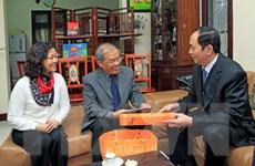 Chủ tịch nước Trần Đại Quang thăm, chúc Tết các trí thức tiêu biểu