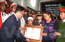 Truy tặng Huân chương cho Thượng úy công an hy sinh ở Hà Giang