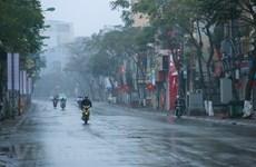 Không khí lạnh tăng cường gây mưa dông rải rác ở khu vực Bắc Bộ