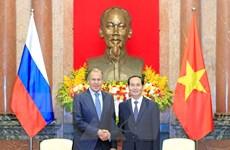 Chủ tịch nước Trần Đại Quang tiếp Bộ trưởng Ngoại giao Nga