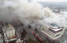 Tổng thống Putin tới hiện trường vụ cháy trung tâm thương mại ở Nga