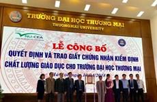 Đại học Thương Mại đạt tiêu chuẩn kiểm định chất lượng giáo dục