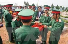 Tổ chức lễ truy điệu và an táng 9 hài cốt liệt sỹ tại Quảng Trị