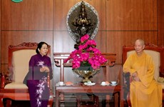 Lãnh đạo Thành phố Hồ Chí Minh thăm, chúc mừng Đại lễ Phật đản