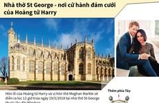 [Infographics] Nhà thờ St George - nơi cử hành đám cưới Hoàng gia Anh