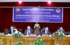 Hội thảo khoa học về hệ thống chính trị Lào-Việt Nam tại Vientiane
