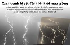 [Infographics] Làm gì để tránh bị sét đánh khi trời mưa giông