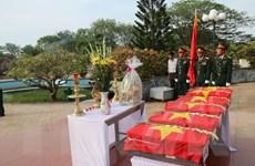 An táng 25 hài cốt liệt sỹ quân tình nguyện Việt Nam hy sinh tại Lào