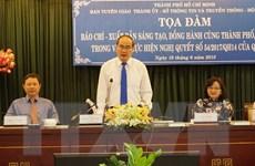 Báo chí góp phần triển khai Nghị quyết về cơ chế đặc thù ở TP.HCM