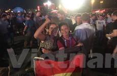 Cổ động viên Đức làm náo loạn khu fanzone sau chiến thắng nghẹt thở