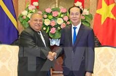 Chủ tịch nước Trần Đại Quang tiếp Tổng thống Cộng hòa Nauru