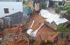 Sạt lở taluy sát công trình xây dựng giữa trung tâm thành phố Đà Lạt