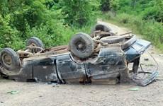 Đắk Nông: Lật xe chở gỗ giữa rừng, hai người tử vong tại chỗ