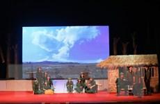 Công diễn vở kịch về những cô gái hy sinh ở Ngã ba Đồng Lộc