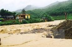 Lũ lên nhanh, nguy cơ cao xảy ra sạt lở đất ở vùng núi phía Bắc