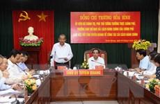 Phó Thủ tướng Chính phủ Trương Hòa Bình làm việc tại Tuyên Quang