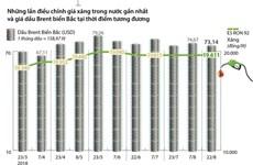 [Infographics] Giá xăng E5 RON 92 giữ ổn định 19.611 đồng mỗi lít