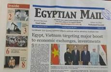 Báo chí Ai Cập đưa đậm nét về chuyến thăm của Chủ tịch nước