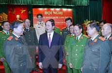 Hình ảnh Chủ tịch nước Trần Đại Quang với lực lượng công an