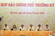Những nội dung chính trong buổi họp báo Chính phủ tháng Chín