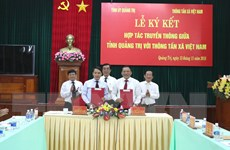 Thông tấn xã Việt Nam và tỉnh Quảng Trị ký kết hợp tác truyền thông
