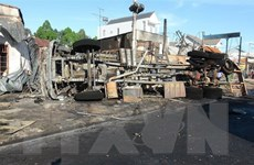 Vụ cháy xe bồn tại Bình Phước: Tài xế đang được điều trị tích cực