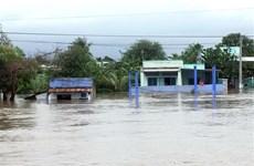 Mưa lũ diễn biến phức tạp sau bão, Ninh Thuận cho học sinh nghỉ học