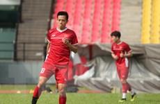 Các cầu thủ đội tuyển Việt Nam tập buổi thứ hai tại Malaysia