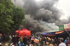 Vụ cháy gần khu vực chợ Vinh: Ước tính thiệt hại hàng tỷ đồng