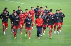 Đội tuyển Việt Nam tập luyện trước trận lượt về trên sân Mỹ Đình