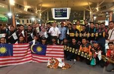 Cổ động viên Malaysia lên đường sang Việt Nam xem chung kết AFF Cup