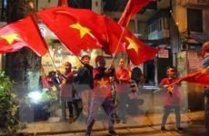 """Người dân cả nước """"say"""" với chiến thắng của đội tuyển Việt Nam"""