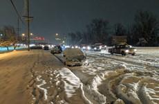 Mỹ: Bão tuyết di chuyển về phía thủ đô sau khi càn quét Trung Tây