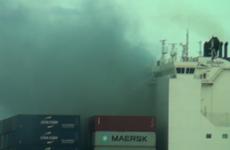 Cứu hộ tàu nước ngoài bị cháy ngoài khơi vùng biển Ninh Thuận