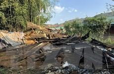 Mưa đá, dông lốc gây nhiều thiệt hại tại Điện Biên và Lào Cai