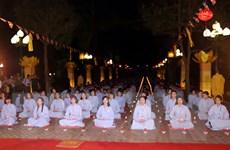 [Photo] Đặc sắc lễ hoa đăng Liên Hoa Hội Thượng tại chùa Côn Sơn
