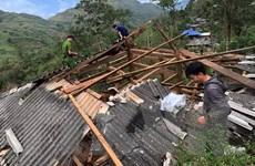Lai Châu: Gió lốc làm sập nhiều nhà dân, một cháu bé bị thương