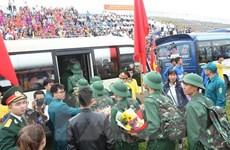 Không khí náo nức tại các buổi giao nhận quân trên cả nước