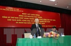 Tổng Bí thư, Chủ tịch nước nói chuyện với cộng đồng người Việt tại Lào