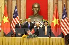 Ký kết bốn văn kiện hợp tác giữa hai nước Việt Nam-Hoa Kỳ