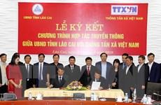UBND tỉnh Lào Cai ký hợp tác truyền thông với Thông tấn xã Việt Nam