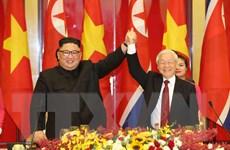 Tổng Bí thư, Chủ tịch nước mở tiệc chiêu đãi Chủ tịch Triều Tiên