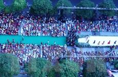 Hơn 3.000 người tham gia đồng diễn áo dài Việt Nam tại TP.HCM